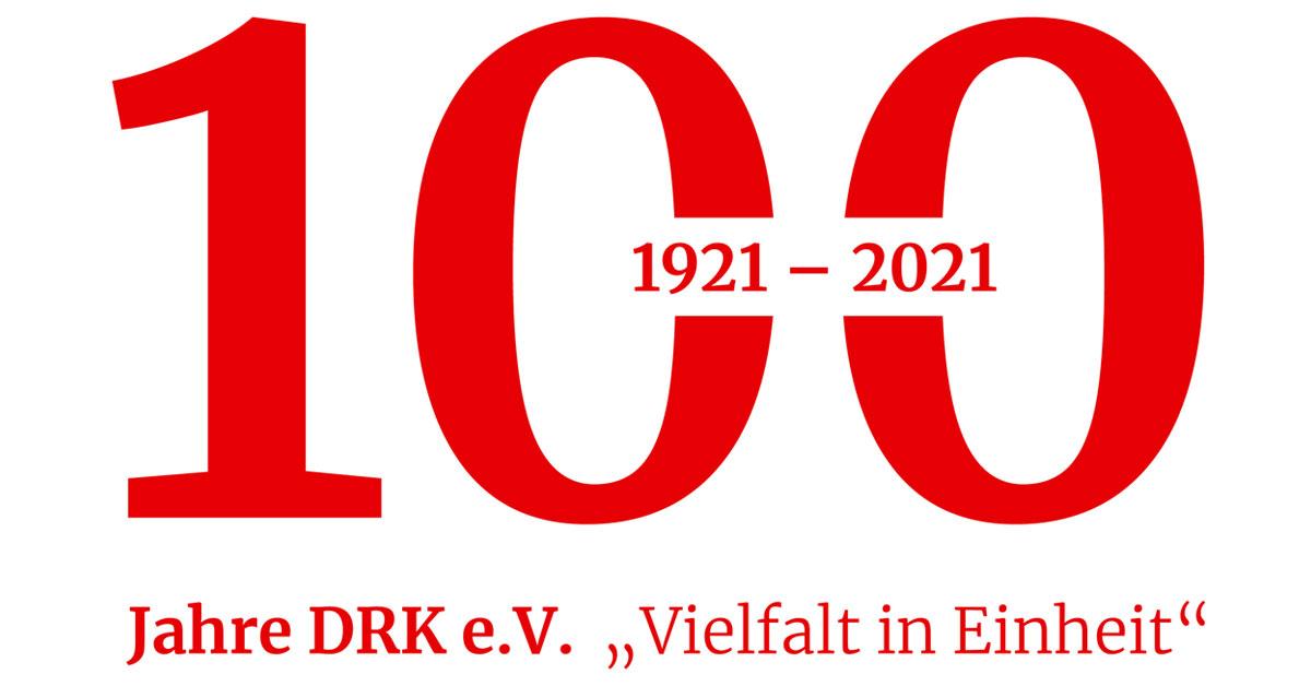 Jubiläumslogo des DRK zum hundertjährigem Jubiläum